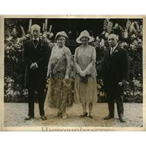 1927 Press Photo New Brunswick Canada Giv GEn & Viscountess Willingdon,