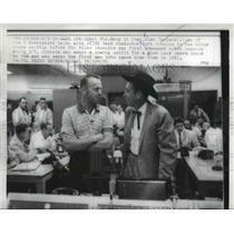 1953 Press Photo Navy Lt Commander Alan Shepard & Test Conductor Kurt Johnson