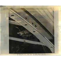 1934 Press Photo Plymouth Body Frame, Torpedo Shaped All Steel Body - nee45948