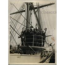 1928 Press Photo Argentine Training Ship Presidente Sarmiente - nee48159