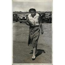 1931 Press Photo Miss Olive Whitman at Newport RI