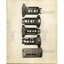 1927 Press Photo Views of crank case rough casting. - nee48684