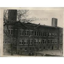1927 Press Photo Tracy School in Lynn Massachusetts Destroyed by Fire
