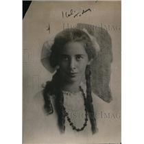 1919 Press Photo Mirian Johnson Slept 5 Weeks Due to Flu