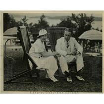 1934 Press Photo Mr & Mrs John Roe Jr , Blue Point Long Island in Bermuda