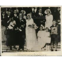 1930 Press Photo Helen Wrangel weds Philip Knapp Hills in Paris