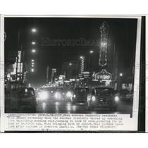 1958 Press Photo of snow, rain, and dust on an Amarillo street. - nee48272
