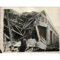 1926 Press Photo Liner Finland Crashed into San Francisco Pier - nee47786