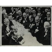 1934 Press Photo Tokyo Japanese dignitaries gather at Imperial Palace.