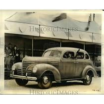 1938 Press Photo New 1939 Plymouth, Preparing American Motorists For Perfection.