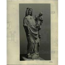 1923 Press Photo of a statue of Virgin and Child by Joseph Demotte - nee47284