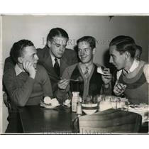 1939 Press Photo George Stribling 1 of 4 Students at Georgia Tech On German Diets