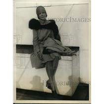 1928 Press Photo NYC Miss June Hess debutante