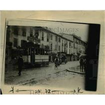 1922 Press Photo Guards Escort Armored Car Through Milan Streets, Italy
