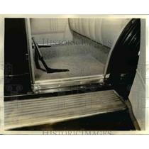 1934 Press Photo Interior Floor & Running Board of Plymouth Car / Automobile