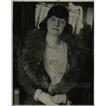 1930 Press Photo Mrs Burleigh Grimes