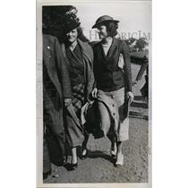 1934 Press Photo Misses Martha, Alexandra bacon East-West Polo Match Meadowbrook