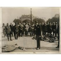 1927 Vintage Photo NY Mayor James Walker tomb Unknown Soldier Paris