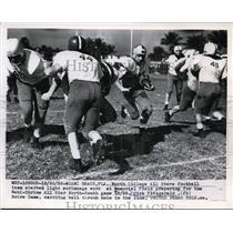1955 Press Photo Miami Beach Fla North College All Stars Dick Fitzgerald & other