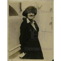 1921 Press Photo Mrs Frank J Gould Arriving in London Contesting Divorce