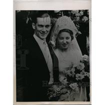 1938 Press Photo Robert Ellis and Wife Anita Lizana - nee53388