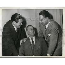 1944 Press Photo Chicago Roy Haney KC pres, Rbt Tarleton of St Paul, Wm DeWitt
