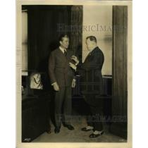 1931 Press Photo Dr Jaroslav Novak Czech Consul General in NY & James Mooney
