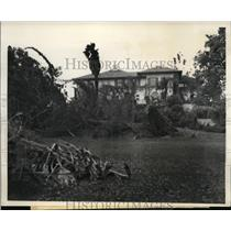 1939 Press Photo Pasadena Calif Home of T W Warner in Pasadenas exclusive area.