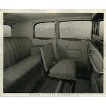 1929 Press Photo Interior of Packard Standard 8 sedan. - nee56206