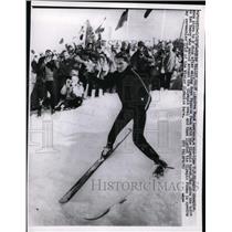 1960 Press Photo Squaw Valley Calif Andrea Mean Lawrence US ski champ