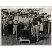 1937 Press Photo Miami Fla 4 ball tourny T Manero, Lawson Little, Henry Picard
