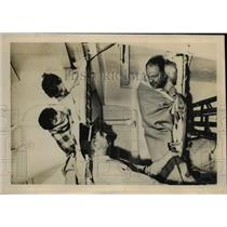 1950 Press Photo Coast Guard Cutter White Pine Rescues Mike & Joe Getlin Memphis