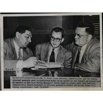 "1951 Press Photo Commissioner John ""Ox"" DaGrosa, Robert Moutenay, George Jones"