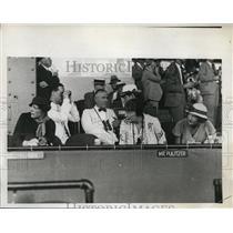 1933 Press Photo Mrs. Charles S. Bromley, Charles Mathew 2nd, Charles S. Bromley