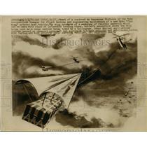 1961 Press Photo San Diego California Award Of Contract To Aerospace Division