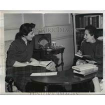 1950 Press Photo Ambassador's Wife Sloan Simpson O'Dwyer, Chela Martinez del Rio