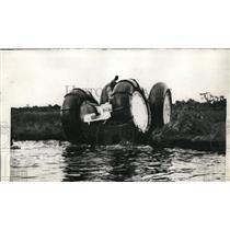 1936 Press Photo Tests of Marsh Buggy Completed On Land Travels 55 MPH