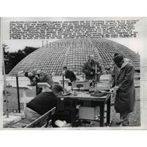 1957 Press Photo Amateur Astronomers at Morrison Planetarium  - nee52839