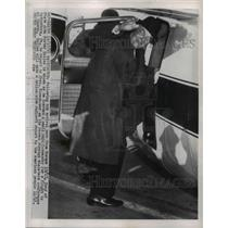 1955 Press Photo Secy Of State John Foster Dulles As He Boards Small Plane