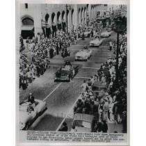1952 Press Photo Olympic Contestants in San Francisco in Motorcade - nee53203