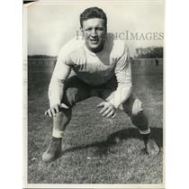 1940 Press Photo Notre Dame Left Tackle Thomas C Gallagher