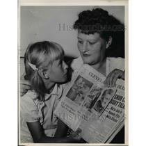 1961 Press Photo Mrs. Gertrude von Tonk daughter Jenny