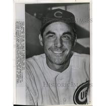 1945 Press Photo Cubs First Baseman Phil Cavaretta Named Nost Valuable Player
