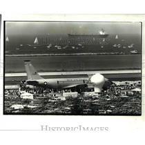 1985 Press Photo View of Cleveland National Air Show