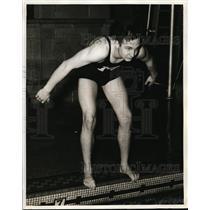 1940 Press Photo William Holmes of Chicago, Illinois Swimmer - nee59365