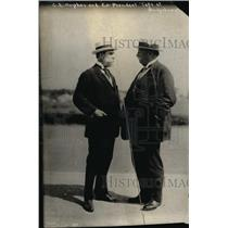1918 Press Photo Charles Hughes with ex-pres. Taft at Bridgehampton