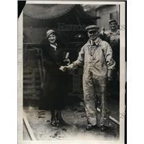 1931 Press Photo German opera star Charlotte Boerner and George Dougherty