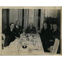 1938 Press Photo Orange Bowl Committee Ben Wicklawn Chairman, Dr Portmann