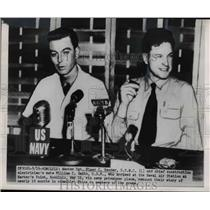 1950 Press Photo POWs Elmer C. Bender, William C. Smith in Press Conference