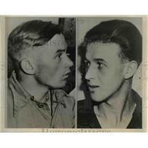1942 Press Photo Sergeant Mans Kibir Edward Lorenc German War Prisoners in Oakland